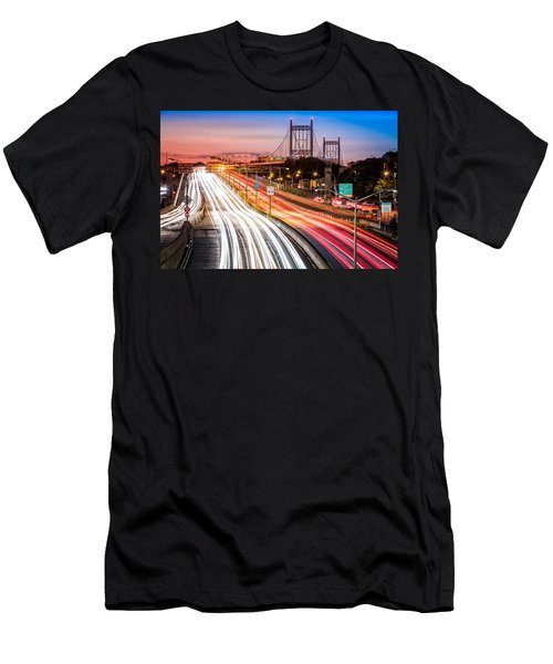 Light Trails On I-278 Near Triboro Bridge Men's T-Shirt (Athletic Fit)