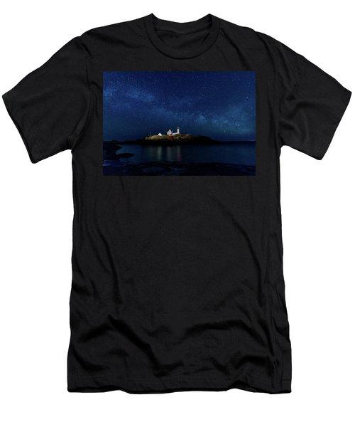 Light Up Nubble Lighthouse Men's T-Shirt (Athletic Fit)