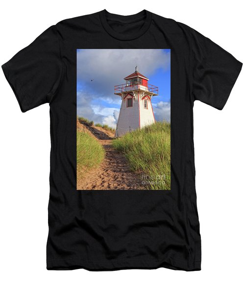 Lighthouse Among The Dunes Men's T-Shirt (Athletic Fit)