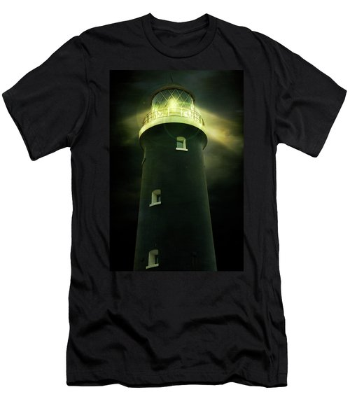 Lighthouse At Night Men's T-Shirt (Athletic Fit)