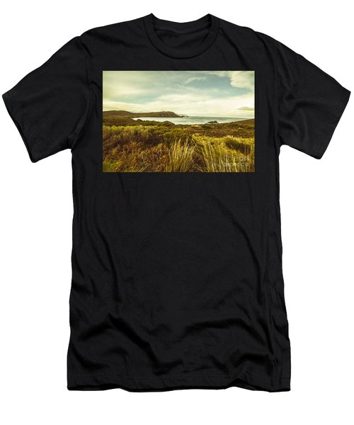 Lighthouse Bay Beach Bruny Island Men's T-Shirt (Athletic Fit)