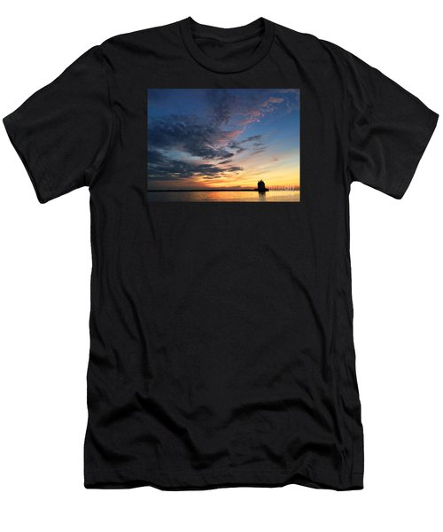 Lighthouse In Lorain Men's T-Shirt (Athletic Fit)