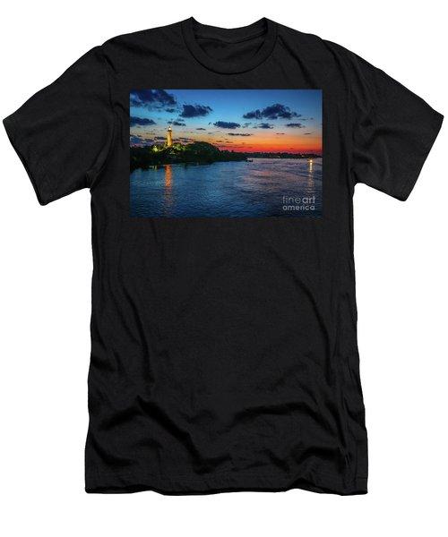 Lighthouse Light Beam Men's T-Shirt (Athletic Fit)