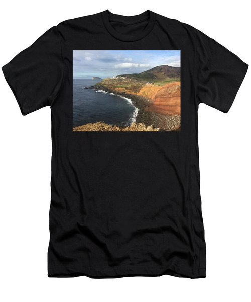Lighthouse On The Coast Of Terceira Men's T-Shirt (Athletic Fit)