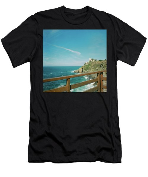 Lighthouse Over The Ocean Men's T-Shirt (Athletic Fit)