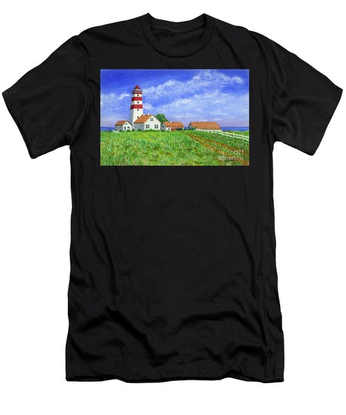 Lighthouse Pasture Men's T-Shirt (Athletic Fit)