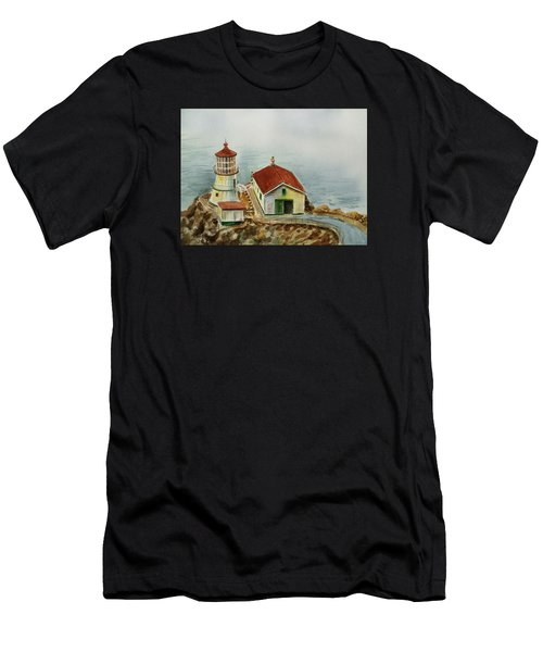 Lighthouse Point Reyes California Men's T-Shirt (Athletic Fit)