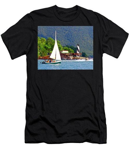 Lighthouse Sailors Smith Mountain Lake Men's T-Shirt (Athletic Fit)