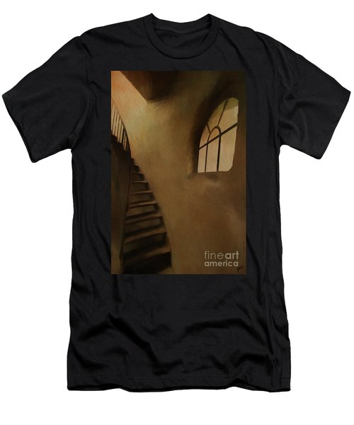 Men's T-Shirt (Slim Fit) featuring the photograph Lighthouse Stairs by Jim  Hatch