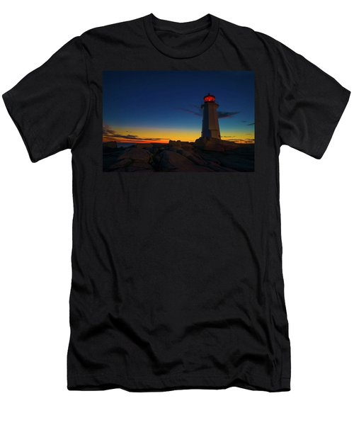 Lighthouse Sunset Men's T-Shirt (Slim Fit) by Andre Faubert