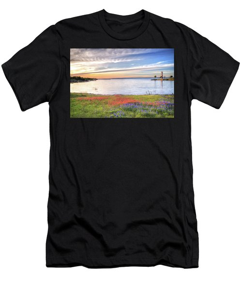 Lighthouse Sunset At Lake Buchanan Men's T-Shirt (Athletic Fit)