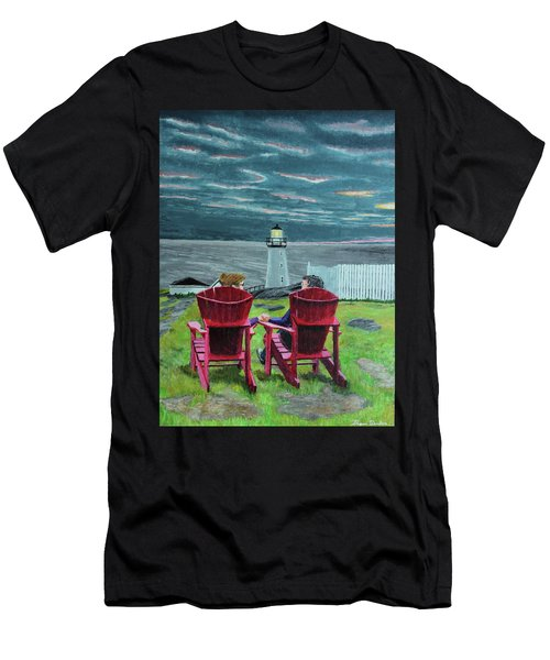 Lighthouse Lovers Men's T-Shirt (Athletic Fit)