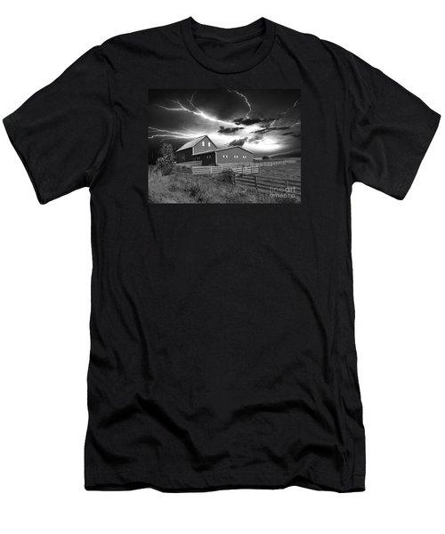 Lighting Strike  Men's T-Shirt (Athletic Fit)