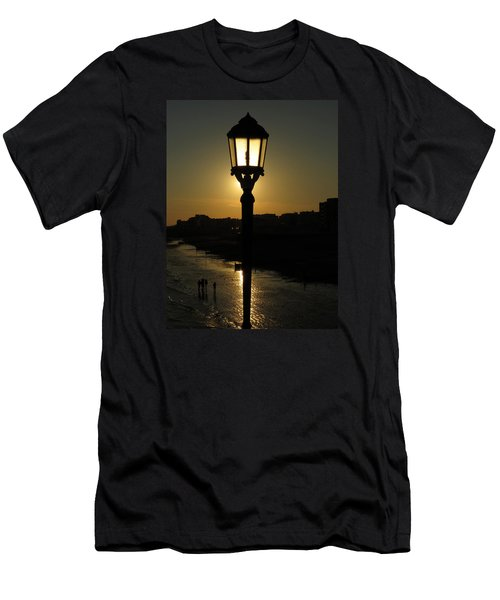 Lighting Up The Beach Men's T-Shirt (Athletic Fit)