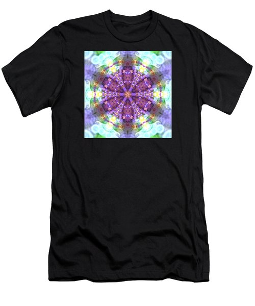 Men's T-Shirt (Athletic Fit) featuring the digital art Lightmandala 6 Star 2 by Robert Thalmeier