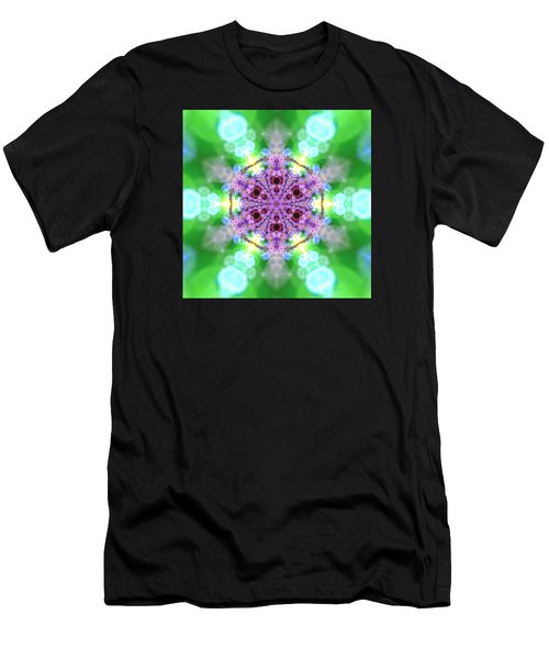 Men's T-Shirt (Athletic Fit) featuring the digital art Lightmandala 6 Star 3 by Robert Thalmeier