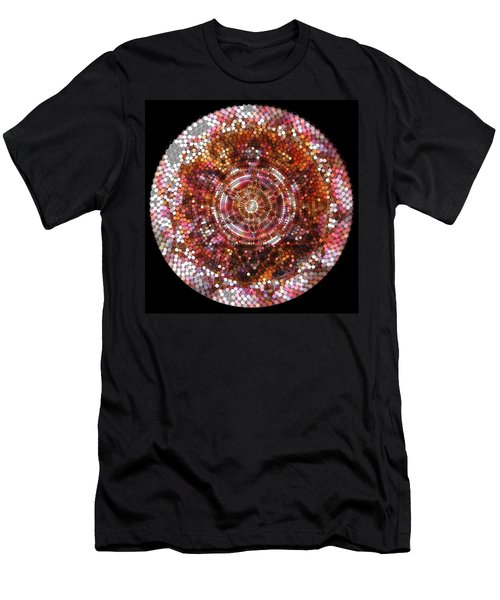 Men's T-Shirt (Athletic Fit) featuring the digital art Lightmandala 6 Star Morp 5 by Robert Thalmeier