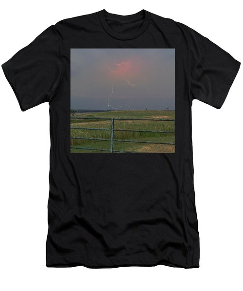 Lightning Bolt On A Scenic Route Men's T-Shirt (Athletic Fit)