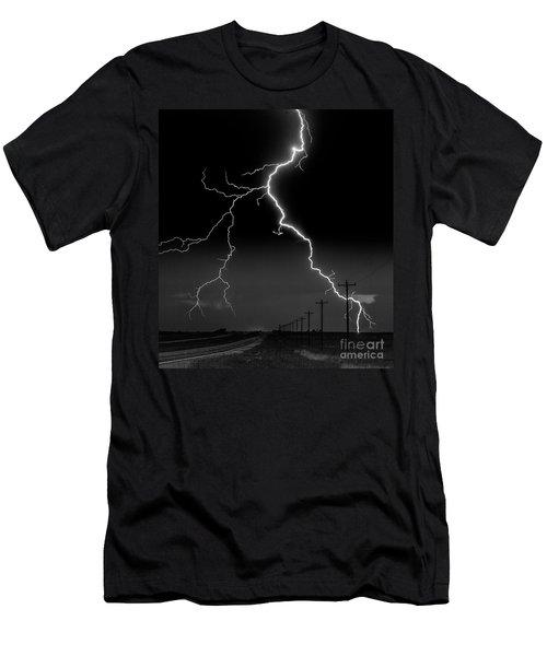 Lightning Bolt Men's T-Shirt (Athletic Fit)