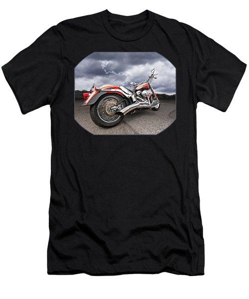 Lightning Fast - Screamin' Eagle Harley Men's T-Shirt (Slim Fit) by Gill Billington