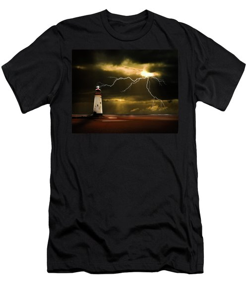 Lightning Storm Men's T-Shirt (Athletic Fit)