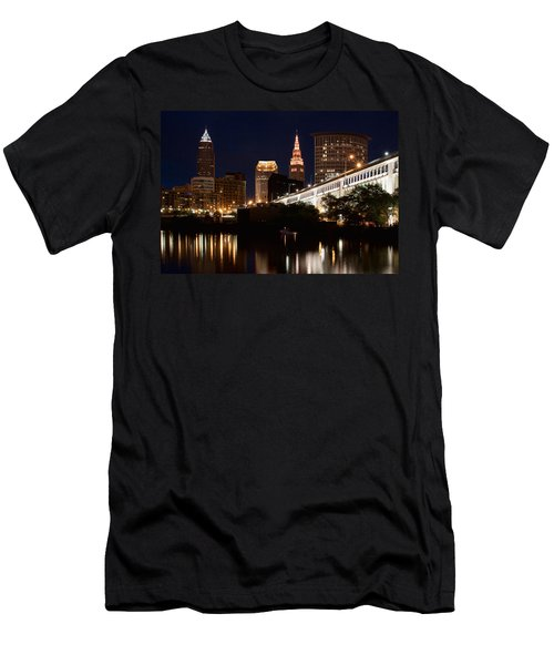 Lights In Cleveland Ohio Men's T-Shirt (Athletic Fit)