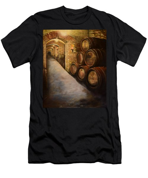 Lights In The Wine Cellar - Chateau Meichtry Vineyard Men's T-Shirt (Athletic Fit)