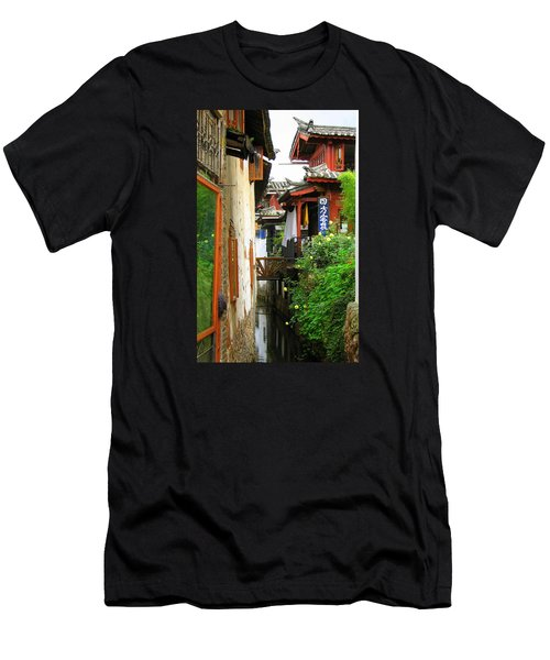 Lijiang Back Canal Men's T-Shirt (Athletic Fit)