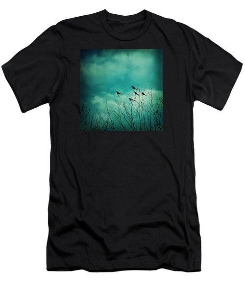Men's T-Shirt (Slim Fit) featuring the photograph Like Birds On Trees by Trish Mistric