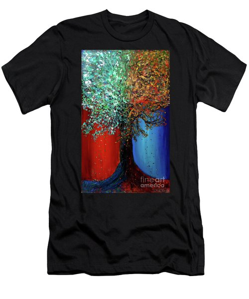 Like The Changes Of The Seasons Men's T-Shirt (Slim Fit) by Ania M Milo