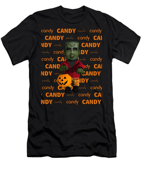 Men's T-Shirt (Slim Fit) featuring the digital art Lil Monster Halloween by Methune Hively
