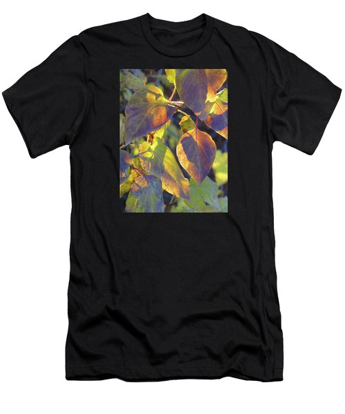 Lilac Leaves Men's T-Shirt (Athletic Fit)