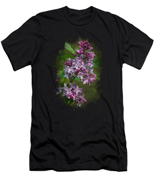 Lilac Watercolor Art Men's T-Shirt (Athletic Fit)