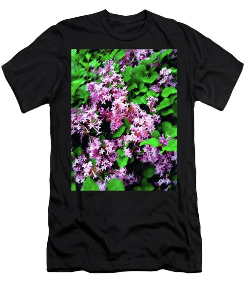 Men's T-Shirt (Slim Fit) featuring the painting Lilacs In May by Sandy MacGowan
