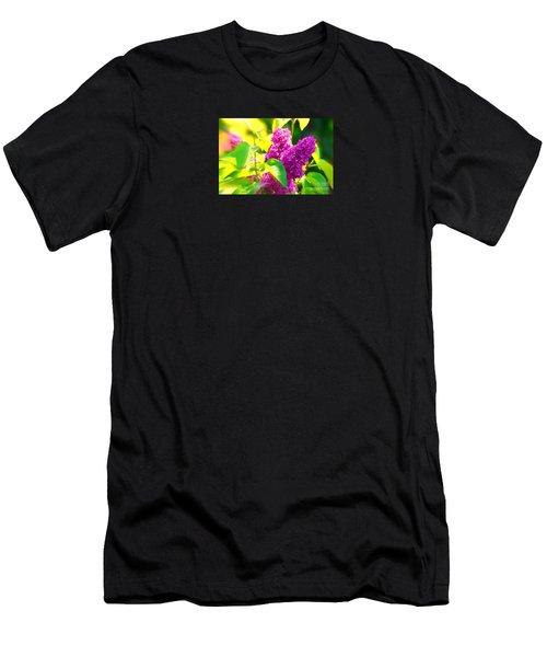 Men's T-Shirt (Slim Fit) featuring the photograph Lilacs by Susanne Van Hulst