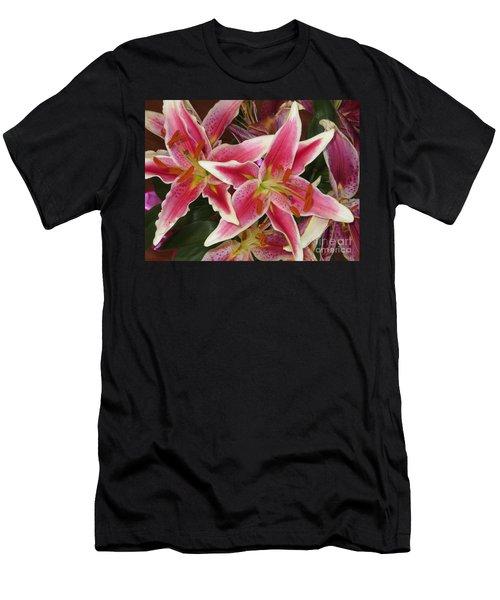 Lilies Men's T-Shirt (Slim Fit) by Tim Townsend