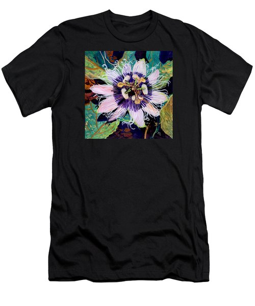 Men's T-Shirt (Slim Fit) featuring the painting Lilikoi by Marionette Taboniar