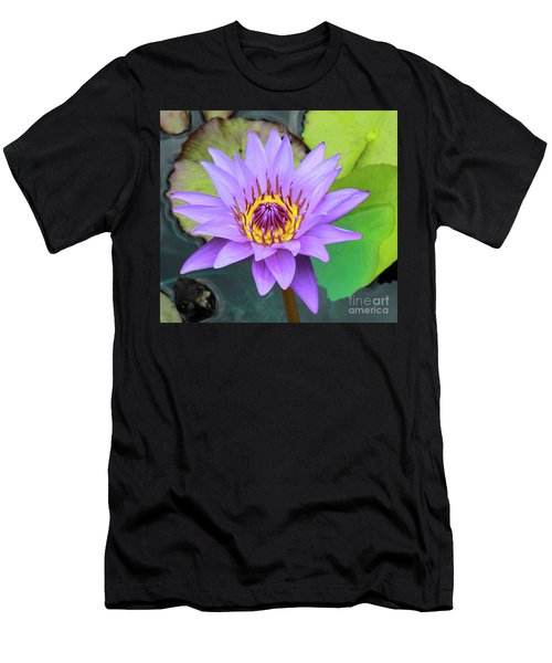 Lilly In Purple  Men's T-Shirt (Athletic Fit)