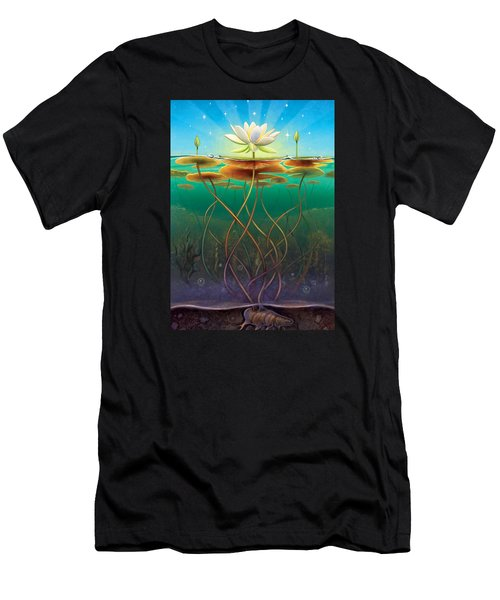 Water Lily - Transmute Men's T-Shirt (Athletic Fit)