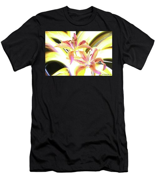 Lily Burst Men's T-Shirt (Athletic Fit)