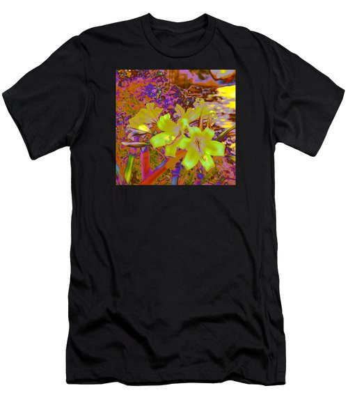 Lily Glow Yellow Men's T-Shirt (Athletic Fit)