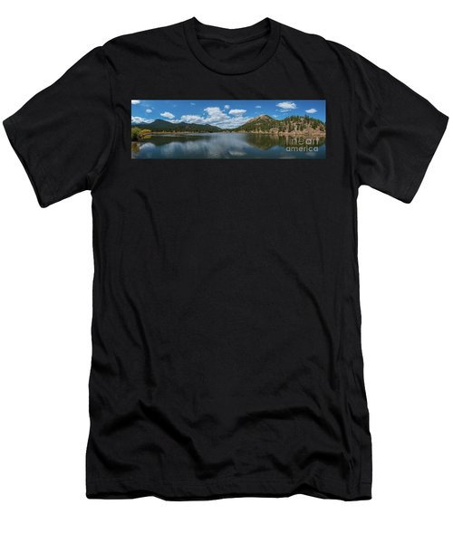Lily Lake Panorama  Men's T-Shirt (Athletic Fit)