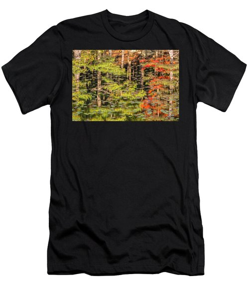 Lily Pad Abstract II Men's T-Shirt (Athletic Fit)