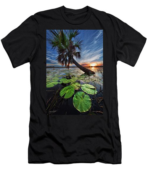 Lily Pads And Sunset Men's T-Shirt (Athletic Fit)