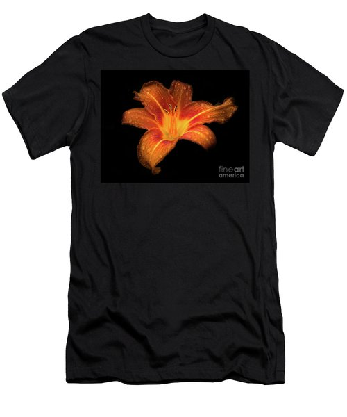 Lily Raindrops In Giverny, France Men's T-Shirt (Athletic Fit)
