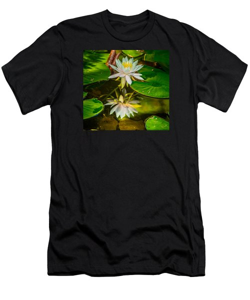 Lily Reflection Men's T-Shirt (Slim Fit) by Jerry Cahill