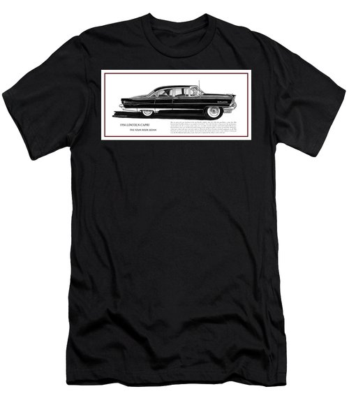 Lincoln Capri 1956 Men's T-Shirt (Slim Fit) by Jack Pumphrey
