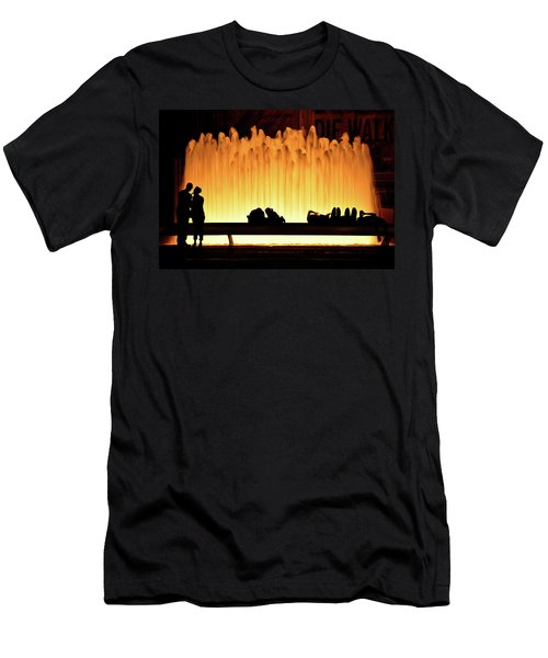 Lincoln Center Fountain Men's T-Shirt (Athletic Fit)
