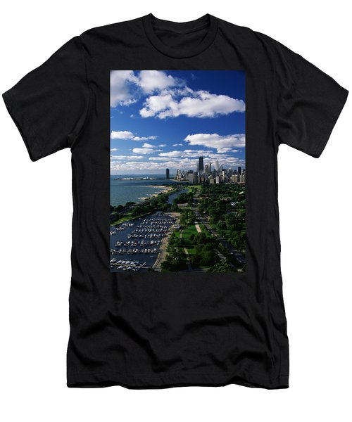 Lincoln Park And Diversey Harbor Men's T-Shirt (Athletic Fit)