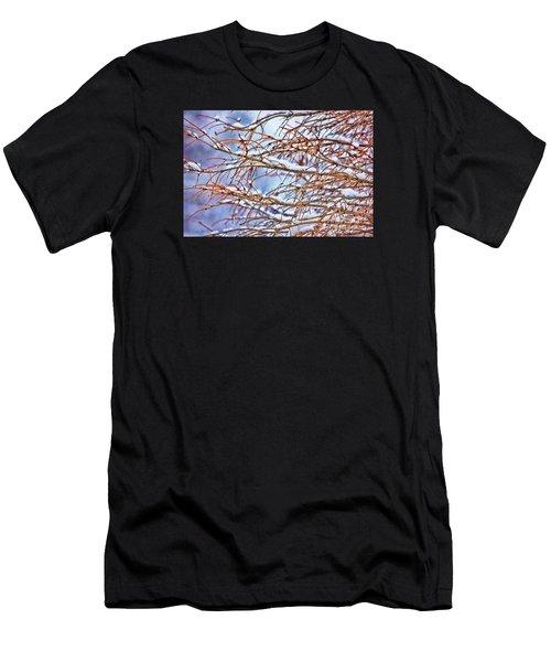 Lingering Winter Snow Men's T-Shirt (Athletic Fit)